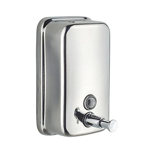 Wall Mounted Soap Shampoo Chrome Finish Square Liquid Soap Bottle Bathroom Accessories Hand Detergent Dispensador Pum (Wall Series Soap Dispenser Mount)