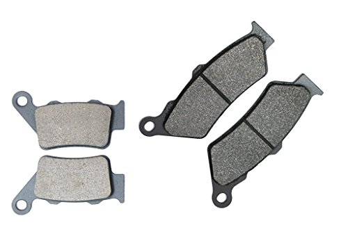 CNBK Motorcycle Semi Metallic Brake Shoe Pads Set fit BMW Street Bike G650 G650GS G 650 cc 650cc GS 09 2009 4 Pads by CNBK