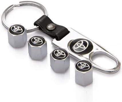 ZKHXFS zinc Alloy tire Valve Cap Keychain Apply to for Skoda