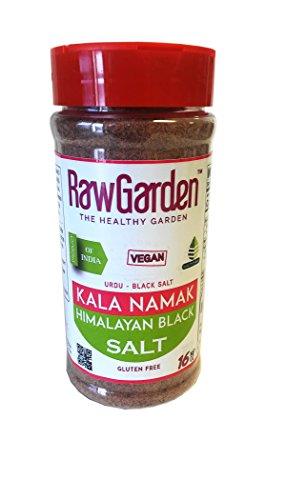 - Raw Garden Kala Namak 16 OZ Fine Grain, Vegan,Sulfur Salt (Himalayan Black Salt) Easy-To-Use Shaker Bottle