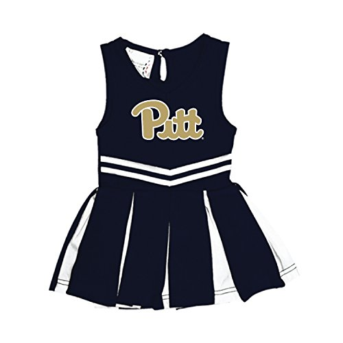 (Pittsburgh Panthers NCAA Newborn Infant Baby Cheerleader Bodysuit Dress (12 Months) )