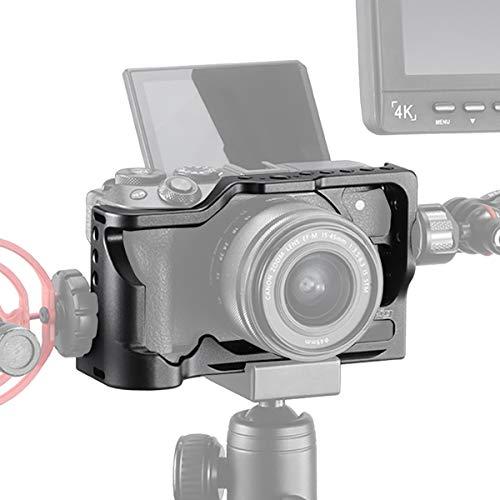 """قفس فلزی UURig C-M50 برای دوربین Canon M50 Vlog ، مانیتور / میکروفون / لامپ کفش سرد ، لنزهای انتخابی ، نصب گزینه های اضافی برای نصب ، لوازم جانبی ولوگ با عکسبرداری ویدیویی با سوراخ 1/4 """"3/8"""" Arri Hole"""