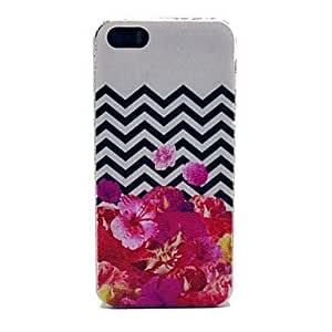 DD Flower with Wavy Pattern Hard Case for iPhone 5/5S