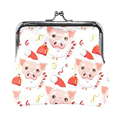 Amazon.com: Fashion Womens Coin Purse Cute Pigs Vintage ...