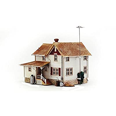 WOODLAND SCENICS BR5046 Corner Porch House HO: Toys & Games