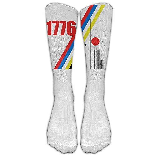Unisex Knee High Long Socks Washington Quote 1st President 1776 School Uniform High Long Stockings ZHONGJIAN from ZHONGJIAN