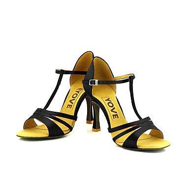 Negro Blanco Tacón Personalizables Salsa Azul almond Rojo Zapatos Personalizado baile Morado Amarillo Rosa Latino de 1a8BwnqEA