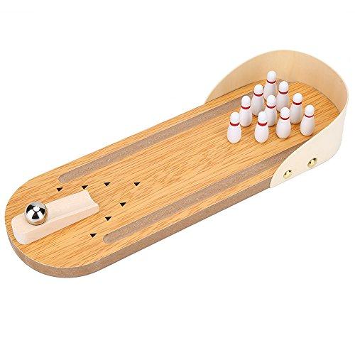 テーブル ボウリング ミニ卓上ボーリング ゲーム おもちゃ 木製 デスクトップ デコレーション 子供