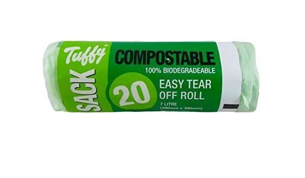 Forro para 7L 20 bolsas de residuos de alimentos biodegradables ...