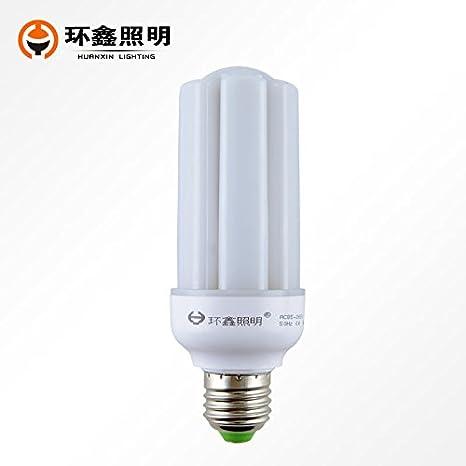 Dngy*bombilla LED E27 tornillo grande de luces LED blanco cálido U-maíz luz