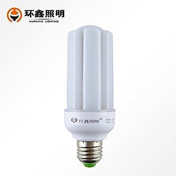 Dngy*bombilla LED E27 tornillo grande de luces LED blanco cálido U-maíz luz interior ...