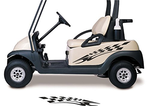 Golf Cart Graphics - Golf Cart Decals Side by Side Go Kart Stickers Auto Truck Racing Graphics GC90