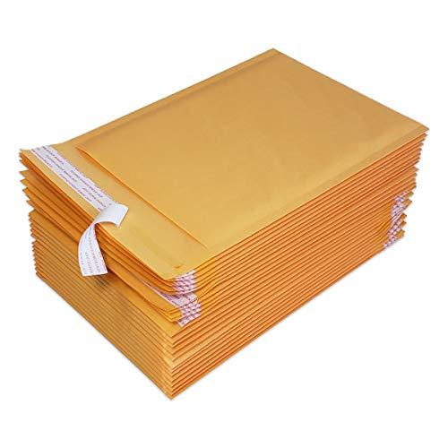 PACKZON #1 Kraft Bubble Mailers Self Seal Padded Shipping Envelopes 7.5