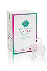 FemmyCycle Menstrual Cup Regular Size – No Spill Design. Reusable, Eco-Friendly, and BPA-Free. Patented, Awarded, FDA Approved and Made in the USA