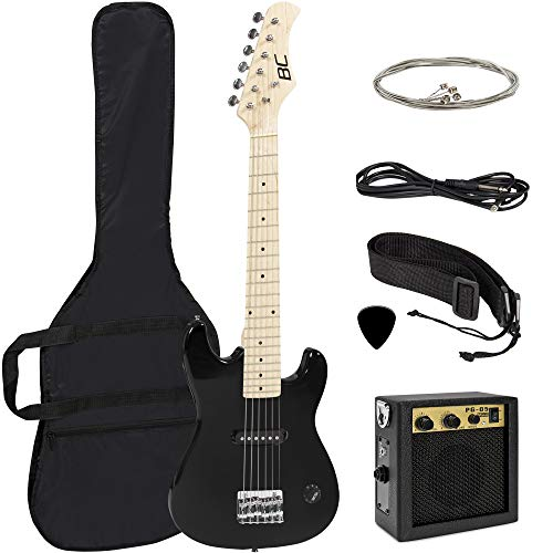Best Choice Products 30in Beginner Electric Guitar Starter Kit, Jr. Size Kids Instrument Set includes Amp, Strap, Gig Bag, Picks, and Extra Strings - Black