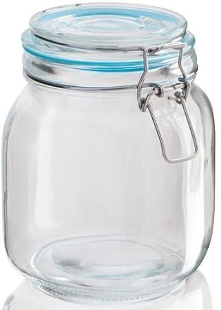 WECKGLAS 0,9 L Einweckglas Einmachglas Weck Vorratsglas Glas