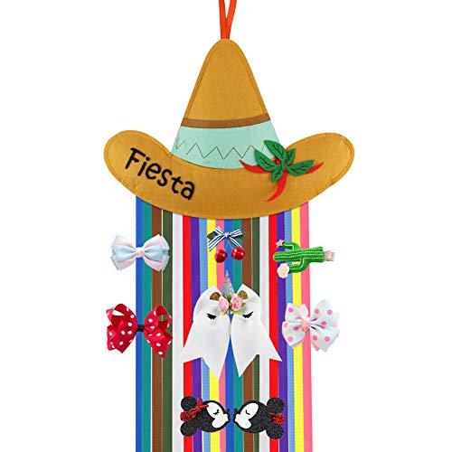 Fiesta Decorations Hair Clips Holder, Baby Girls Hair Bow Holder Hairbow Hanger Hair Clips Accessories Storage Organizer -