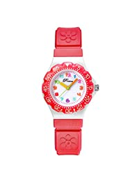 Linwach Red Kids Girl's Analog Detachable Band Daily Waterproof Watches