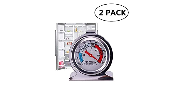 JSDOIN termómetro para refrigerador de congelador, termómetro de ...