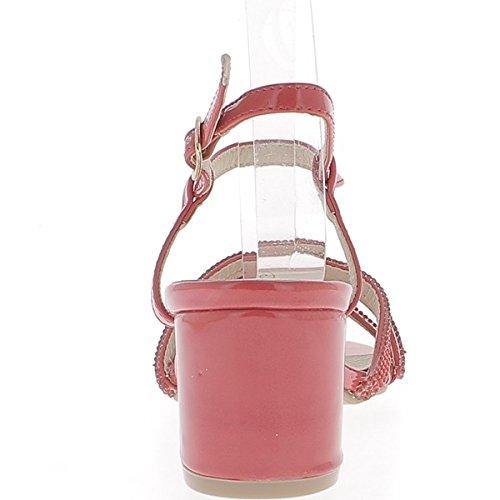 Rote große 6cm dünn lackiert, Flanschen oder Strass-Heel-Sandalen