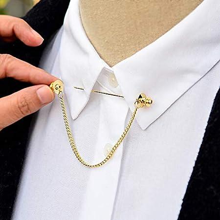 wangxiyan - Broche para Corbata de Hombre, diseño de Camisa de Oro ...