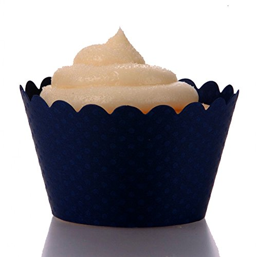Dress My Cupcake Standard Navy Blue Cupcake Wrappers, Set of 50 by Dress My Cupcake