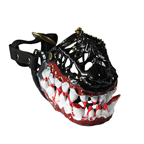 WhaleCreation Hilarious Dog Costume Muzzle with Large Bloody Teeth, Prevent Biting, Chewing and Barking (Large)