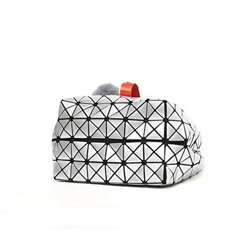 géométriques Color Women Silver Party Bucket à Sacs Fluorescent bandoulière Travel BwCxSRZWEq