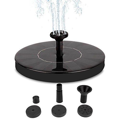 Solar Fountain Pump, Free Standing 1.4W Bird Bath Fountain Pump for Garden and Patio, Solar Panel Kit Water Pump (de1) (Patio Small Fountains)
