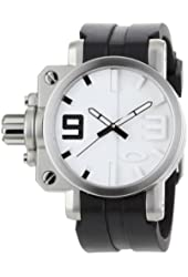 Oakley Men's 10-064 Gearbox Brushed White Dial Watch