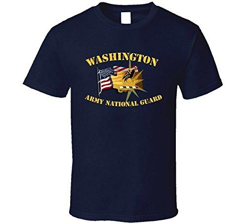 LARGE - Washington - Arng W Flag - T-shirt - Navy