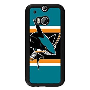 Htc one m8 Case For Men NHL San Jose Sharks Hockey Team Logo Sports Design Hard Plastic Shell Tpu Rubber Slim Fit Protective Phone Accessories Case Cover for Men