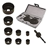 10-Piece Hole Saw Kit for Wood – Durable Carbon Steel Power Drill Hole Cutter With High Precision Cutting Teeth – Woodworking HCS Hole Saw Kit For Wood, PVC, Plastic, Drywall