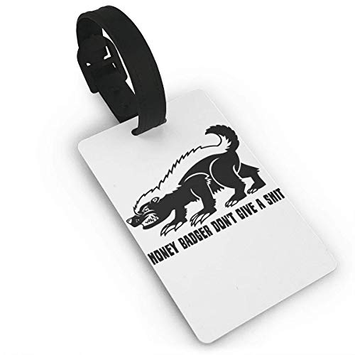 Luggage Tags With Hand Strap Durable Honey Badger Travel Suitcase Bag Tag Identify Label ()