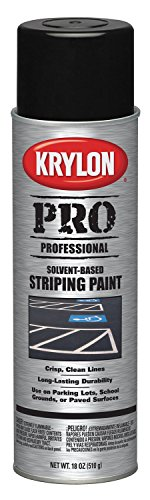 Krylon K05913007 Solvent-Based Professional Striping Paint, Cover Up Black, 18 Ounce (Striping Spray Paint)