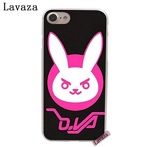 CH Black Pink Overwatch iPhone 6 Case White D Va I Phone 6S Cover Diva Character D.Va Over Watch PC Gaming Theme Esports Gun Shooter Computer Game Multiplayer, Hard Plastic