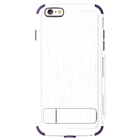 Body Glove Flipsuit Case Cell Phone Case for Apple iPhone 6 Plus - White/Grape (Body Glove Suit Up Phone Cases)