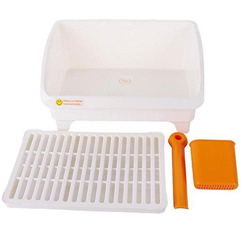 &Zhou Fournitures de Cuisine,Cintres en Plastique de vidange, casier de Rangement de Cuisine, Support Plat, Plats de Stockage Plat Rack HUONIAO