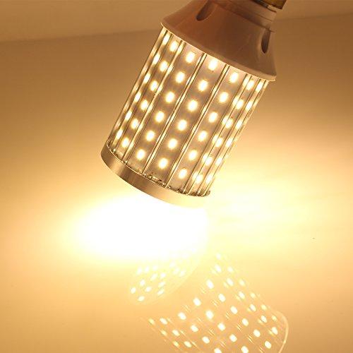 Mininono High Power LED Bulb 25W Aluminum High Power Corn Light Bulb, 108LEDs 200W Halogen Bulbs Replacement, Warm White 3000K Medium Edison E26/E27 Base Super Bright LED Lamp by Mininono (Image #9)