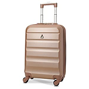 Aerolite Lightweight 55cm Hard Shell 4 Wheel Travel Carry On Hand Cabin Luggage Suitcase, Approved for easyJet British…