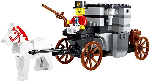 [Pirate capture building brick toy 122pcs play set - medieval pirate with horse and buggy with guns and wagon canon building block - Compatible To All Major Brands - Great Gift for children] (Horse And Buggy)