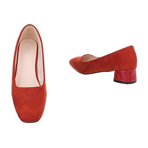 da Tacco Rosso Ital Ballerine Blocco Donna Scarpe Design Ballerine a Classiche qHEvECBnx