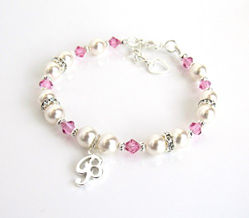 Personalized Jewelry for Girls, Personalized Girls Bracelets, CHOOSE CHARM/BIRTHSTONE/ SIZE, Birthstone (Children's Birthstone Jewelry)