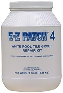 E-Z parche 4blanco piscina lechada reparación 10Lb.