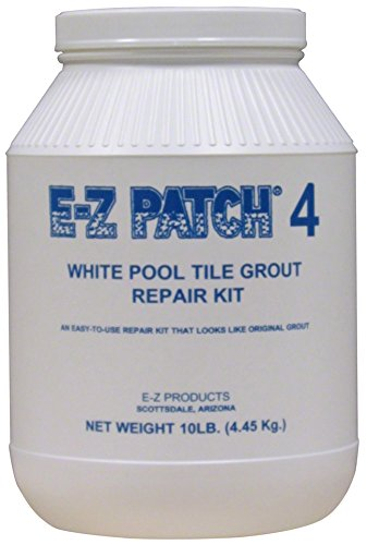 E-Z Patch 4 White Pool Tile Grout Repair 10 (10 Lb White Pool)