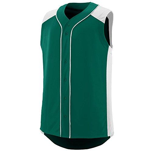 Augusta Sportswear Men's Sleeveless Slugger Baseball Jersey M Dark Green/White