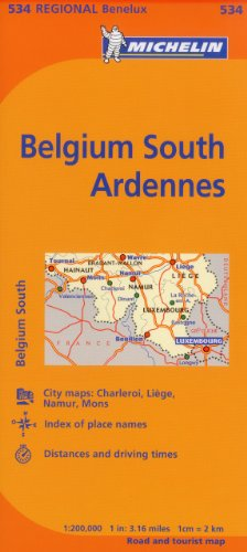Michelin Map Belgium: South, Ardenne 534 (Maps/Regional (Michelin))