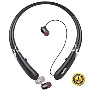 Bluetooth Headphones, Doltech Bluetooth 5.0 Neckband Headphones Noise Cancelling Headset with Carrying Bag Retractable…