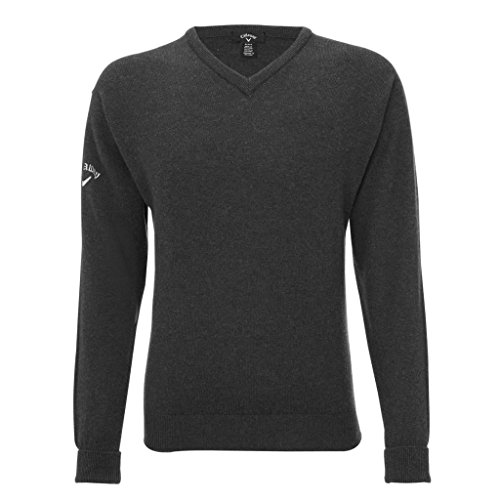 Callaway Pullover V-neck - Callaway 2014 High V-Neck Lambwool Golf Jumper - Mens New Out Charcoal Small