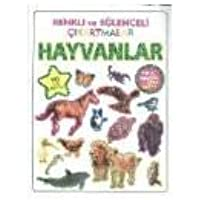 Renkli ve Eğlenceli Çıkartmalar Hayvanlar: (Türkçe İngilizce ve Poster Hediyeli - 90 Adet Çıkartma)